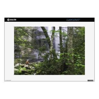 "Hiker admires Falls Branch Falls 15"" Laptop Skins"