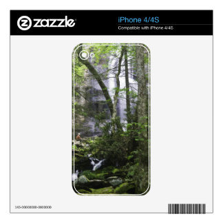 Hiker admires Falls Branch Falls Decal For iPhone 4