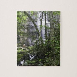Hiker admires Falls Branch Falls Jigsaw Puzzle