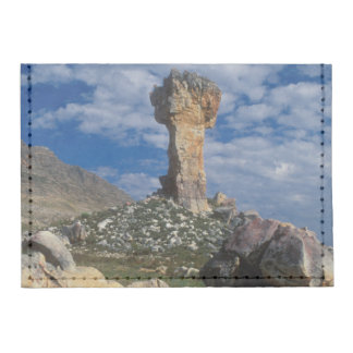 Hiker At Maltese Cross, With Sneeuberg Mountain Tyvek® Card Case Wallet