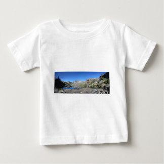 Hiker by Garnet Lake Banner Peak - John Muir Trail Baby T-Shirt