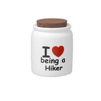 hiker design candy jar