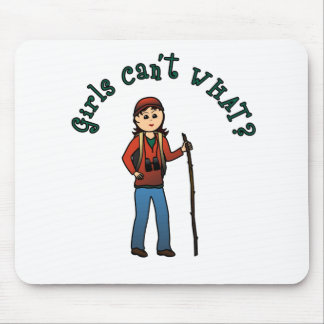 Hiker Girl Mouse Pad