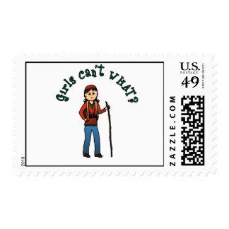 Hiker Girl Postage Stamp