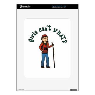 Hiker Girl Skins For The iPad