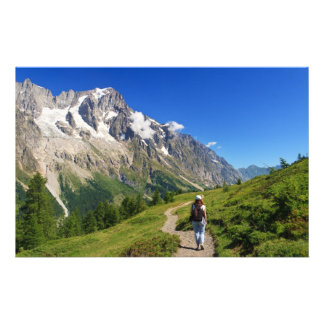 hiker in Ferret Valley, Italy Customized Stationery