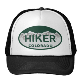 Hiker license oval hats