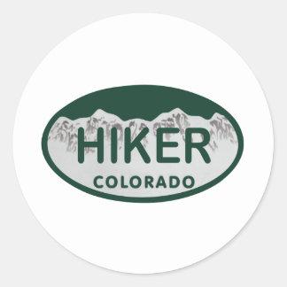 Hiker license oval classic round sticker