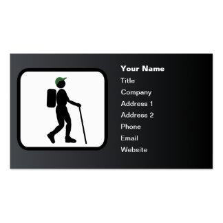 Hiker Logo Customizable Black Business Cards