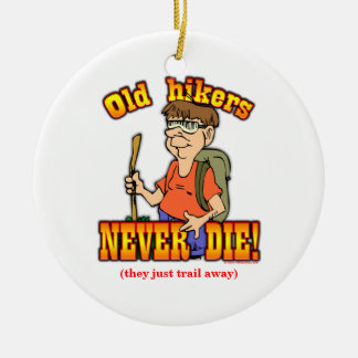 Hiker Double-Sided Ceramic Round Christmas Ornament