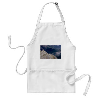 Hiker overlooking the Mountain River, NWT, Canada Aprons