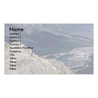 Hiker overlooking the Mountain River NWT Canada Business Card Template
