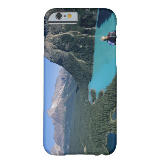 Hiker overlooking turquoise-colored Lake Barely There iPhone 6 Case