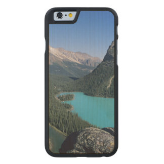 Hiker overlooking turquoise-colored Lake Carved Maple iPhone 6 Slim Case