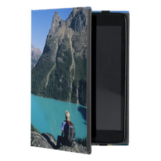 Hiker overlooking turquoise-colored Lake Case For iPad Mini