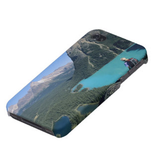Hiker overlooking turquoise-colored Lake Covers For iPhone 4