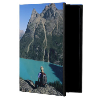 Hiker overlooking turquoise-colored Lake iPad Air Cover