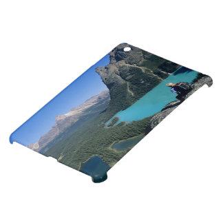 Hiker overlooking turquoise-colored Lake iPad Mini Covers