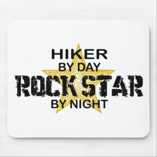 Hiker Rock Star by Night Mouse Pad