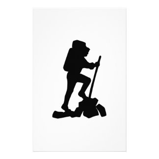 Hiker Silhouette Custom Stationery