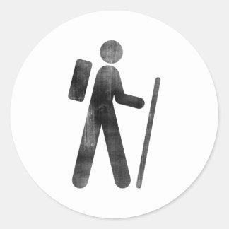 Hiker Round Sticker