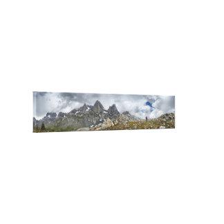 Hiker under the MInarets - Sierra Canvas Print