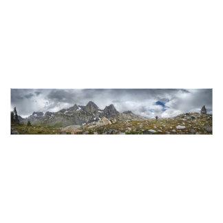 Hiker under the MInarets - Sierra Photo Print