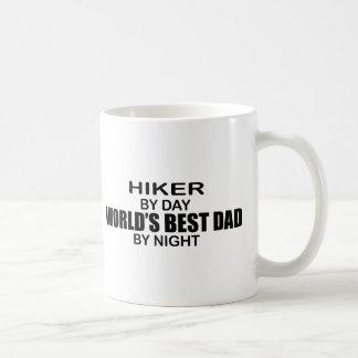 Hiker World's Best Dad by Night Coffee Mug