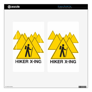 Hiker X-ing Kindle Fire Skin