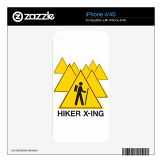 Hiker X-ing Skins For The iPhone 4S