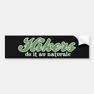 Hikers Do it au Naturale Bumper Sticker