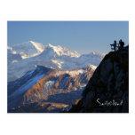 Hikers on Mount Pilatus in Lucerne Switzerland Postcard