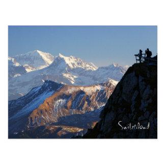 Hikers on Mount Pilatus in Lucerne Switzerland Postcards