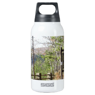 Hikers Turkey Path with sign.at Pa Grand Canyon Insulated Water Bottle