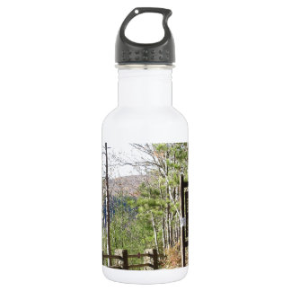 Hikers Turkey Path with sign.at Pa Grand Canyon Stainless Steel Water Bottle