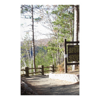 Hikers Turkey Path with sign.at Pa Grand Canyon Personalized Stationery