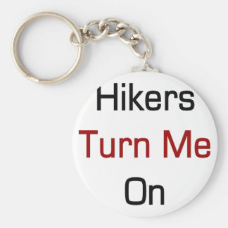 Hikers Turn Me On Basic Round Button Keychain