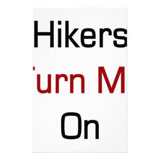 Hikers Turn Me On Custom Stationery