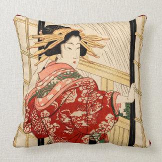 Hikeyotsu no yoru no ame throw pillow