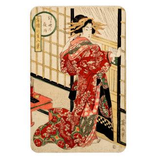 Hikeyotsu no yoru no ame (Vintage Japanese print) Magnet