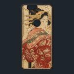 "Hikeyotsu no yoru no ame (Vintage Japanese print) Wood Nexus 6P Case<br><div class=""desc"">Hikeyotsu no yoru no ame (Night rain at 10 pm (hikeyotsu)). Print shows a woman,  full-length,  standing at an open doorway,  looking out at the rain. Japanese woodcut print. Artist: Kikukawa Eizan</div>"