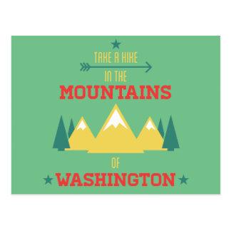 Hiking and Camping in Washington Postcard