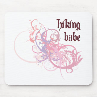 Hiking Babe Mouse Pad