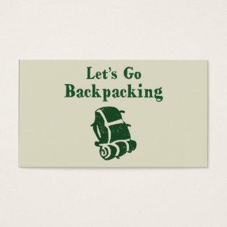 Hiking Backpack Business Card