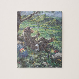 Hiking Bear Jigsaw Puzzle