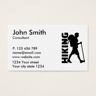 Hiking Business Card