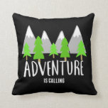 Hiking Camping Adventure is Calling Quote Pillow