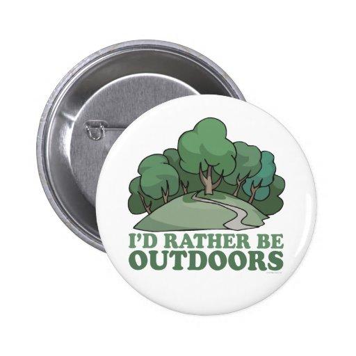 Hiking, Camping, Trekking, Climbing Outdoors! Button