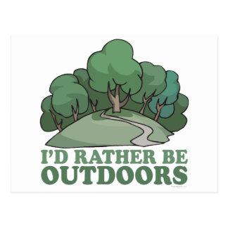 Hiking, Camping, Trekking, Climbing Outdoors! Postcard