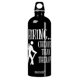 Hiking, Cheaper Than Therapy SIGG Traveler 1.0L Water Bottle
